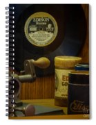 Edison Record And Equipment Spiral Notebook
