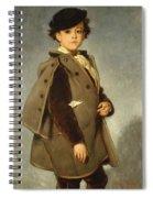 Edmond Dehodencq Wearing An Inverness Cape Spiral Notebook