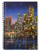 Edmonton Night Lights Spiral Notebook