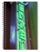 Edsel Sign Aglow Spiral Notebook