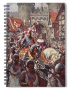 Edward V Rides Into London With Duke Spiral Notebook