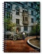 Edwardian Lady By Car Spiral Notebook