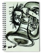 Eeeeeeek! Ink On Paper Spiral Notebook