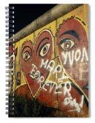 Berlin Wall Hearts Spiral Notebook