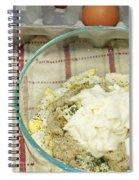 Egg Salad Ingredients Spiral Notebook