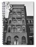 Egress Building In Black And White Spiral Notebook