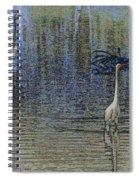 Egret And Heron Watching Spiral Notebook