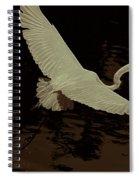 Egret Fractalius Spiral Notebook