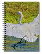 Egret Full Wing Span Spiral Notebook
