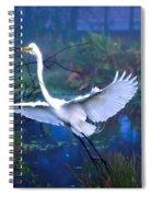 Egret In The Mist Spiral Notebook