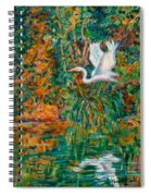 Egret Reflections Spiral Notebook