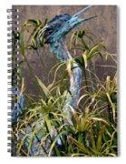 Egret Statue Spiral Notebook
