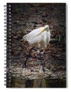 Egret Strut Spiral Notebook