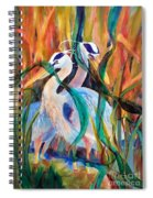 Egrets In Red 2            Spiral Notebook