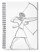 Egyptian Archer And Quiver.  From The Imperial Bible Dictionary, Published 1889 Spiral Notebook