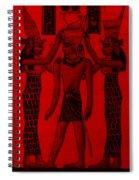 Pharaoh Atem Red Spiral Notebook