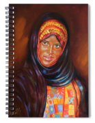 Egyptian Nubian Girl Spiral Notebook