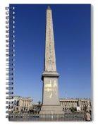 Egyptian Obelisk At The Place De La Concorde In Paris France Spiral Notebook