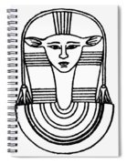 Egyptian Symbol Hathor Spiral Notebook
