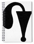 Egyptian Symbol Menat Spiral Notebook