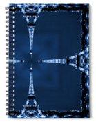 Eiffel Art 27a Spiral Notebook