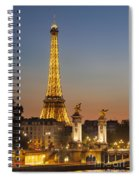 Eiffel At Twilight Spiral Notebook