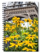 Eiffel Flower Spiral Notebook
