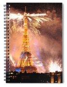 Eiffel Hat Spiral Notebook