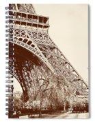 Eiffel In Sepia Spiral Notebook