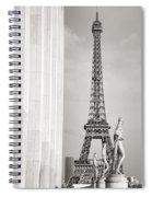 Eiffel Tour Paris Black And White Spiral Notebook
