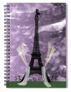Eiffel Tower - Paris - Love Spiral Notebook