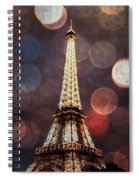 Eiffel Tower-4 Spiral Notebook