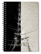Eiffel Tower Abstract Bw Spiral Notebook