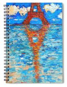 Eiffel Tower Abstract Impression Spiral Notebook