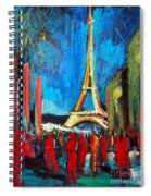 Eiffel Tower And The Red Visitors Spiral Notebook