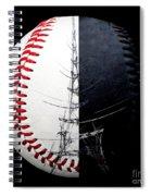 Eiffel Tower Baseball Square Spiral Notebook