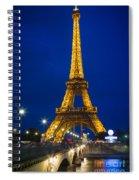 Eiffel Tower By Night Spiral Notebook