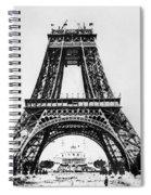 Eiffel Tower Construction Spiral Notebook