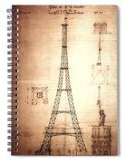 Eiffel Tower Design Spiral Notebook