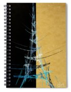 Eiffel Tower In Blue Abstract Spiral Notebook
