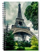 Eiffel Tower In Hdr Spiral Notebook