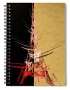 Eiffel Tower In Red On Gold  Abstract  Spiral Notebook