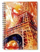 Eiffel Tower In Red Spiral Notebook