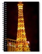 Eiffel Tower Las Vegas Nevada Spiral Notebook