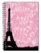 Eiffel Tower - Love In Paris Spiral Notebook