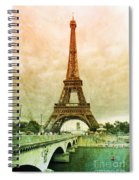 Eiffel Tower Mood Spiral Notebook