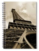 Eiffel Tower Paris France Black And White Spiral Notebook