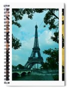 Eiffel Tower Paris France Trio Spiral Notebook