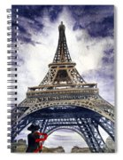 Eiffel Tower Paris Spiral Notebook