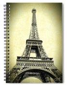 Mighty Eiffel Tower Spiral Notebook